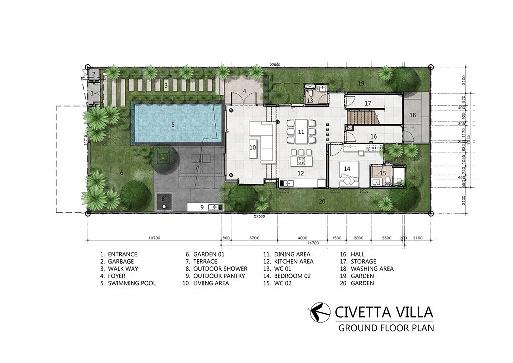 Villa Civetta Plan