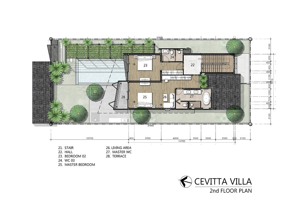 Civetta Villa Plan